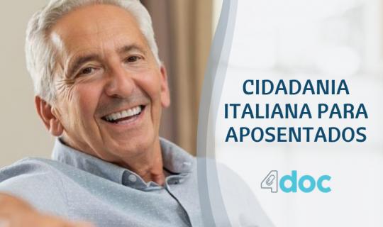 Aposentadoria na Itália. Governo reduz imposto para aposentados